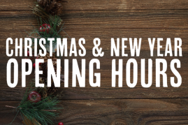 Our Christmas 2020 Opening Hours